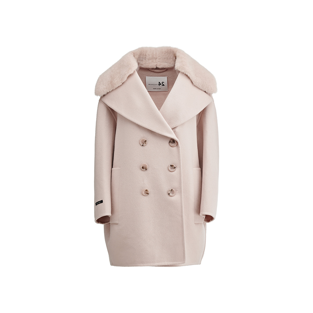 [Manzoni24] Double breasted Mink Cashmere coat